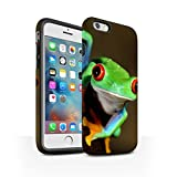 STUFF4 Matte Tough Shock Proof Phone Case for Apple iPhone 6S+/Plus / Frog Design / Wildlife Animals Collection