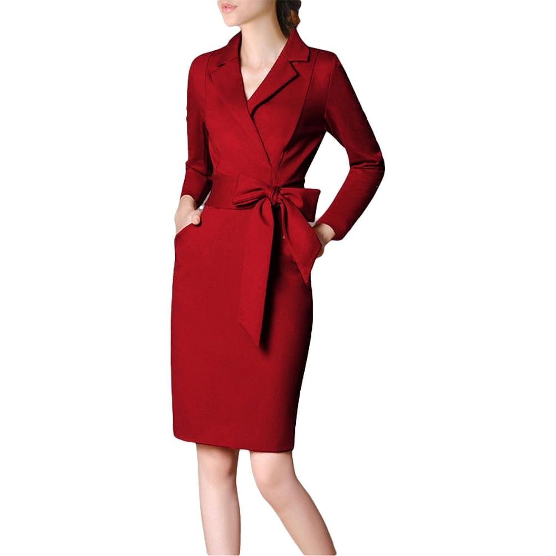 Mode-Temperament Kleid Paket Hüfte war dünnes Kleid professionelle große Größe Kleid - rot
