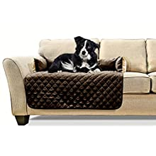 FurHaven Pet Furniture Cover | Sofa Buddy Reversible Furniture Cover Protector Pet Bed for Dogs & Cats, Espresso/Clay, Medium