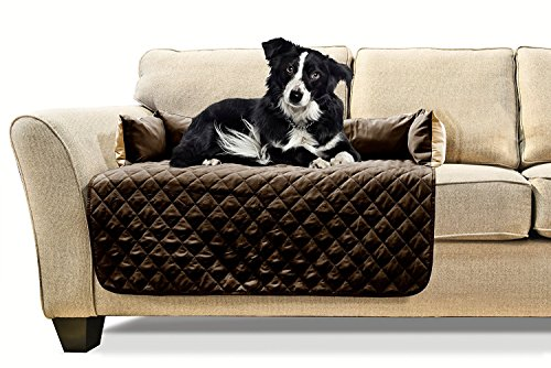 Furhaven Pet Sofa Buddy Pet Bed Furniture Cover, Medium, Espresso/Clay (Pet Cover Furniture)