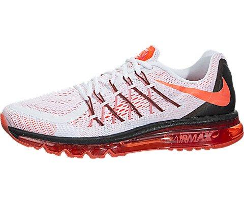 Nike Men's Air Max 2015 White/Bright Crimson/Black Running Shoe 13 Men US
