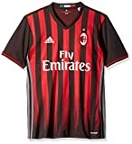 International Soccer Ac Milan Men's Jersey, X-Large, Black/Red/Granite