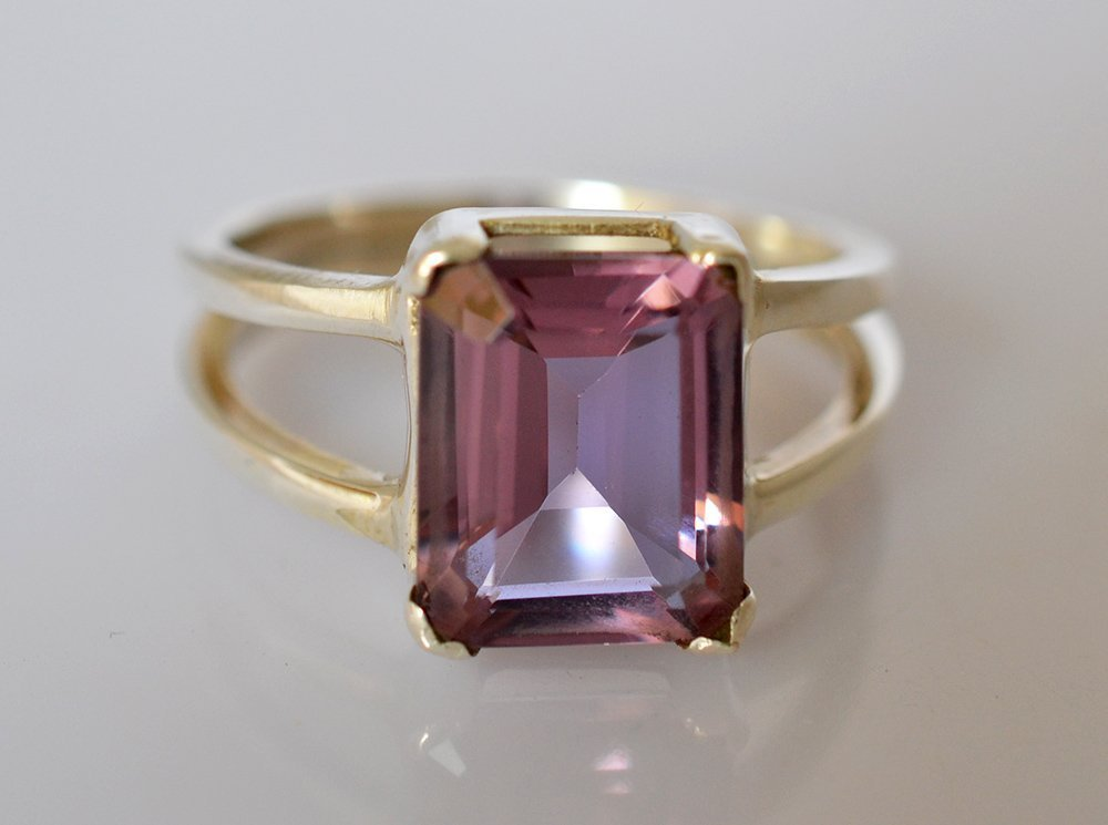 100% Color Change Lab Created Alexandrite 925 Solid Sterling Silver Ring 3-13 US
