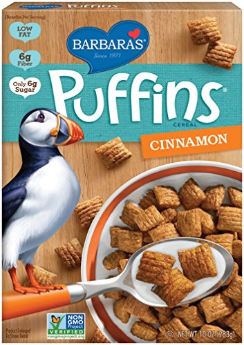 Barbara's Bakery Puffins Cereal, Cinnamon, 10 Ounce (Pack of 6)