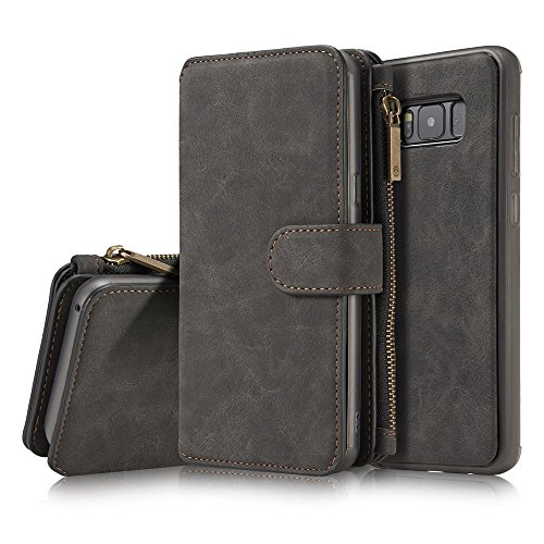 Galaxy S8 Plus (2017) Case, TJS Luxury Coach Series Hybrid PU Leather Drop Protection Folding Folio Style Slots to Hold Cards Stand Flip Wallet Pouch Case For Samsung Galaxy S8 Plus