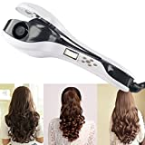 Curling Iron, BlueTop Professional Automatic Studio Salon Ceramic Hair Curler Iron Wand with Negative Iron LCD Display Hair Styler Tools Crimping Waver Iron