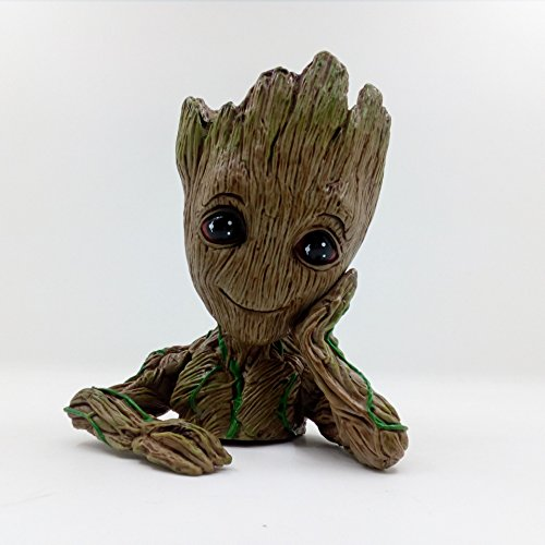 Guardian Garden Statue (fannuoyi Groot Action Figures Guardians of The Galaxy Milky Way Convoy Flowerpot Baby Cute Model Toy Pen Pot Best Birthday Holiday Gifts)