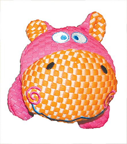Patchwork Pet TuffPuff Hippo Head 6-Inch Pet Toy