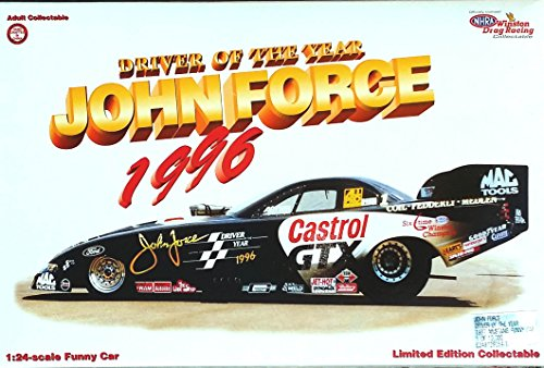 JOHN FORCE 1997 DRIVER Of The YEAR Gastrol GTX FORD MUSTANG NHRA FUNNY CAR in 1:24 Scale Diecast (24 Action Nhra Funny Car)
