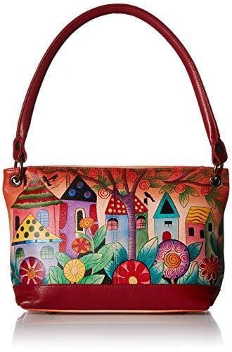 Anna by Anuschka Shoulder Tote Bag | Genuine Leather | Medium,Village Of Dreams