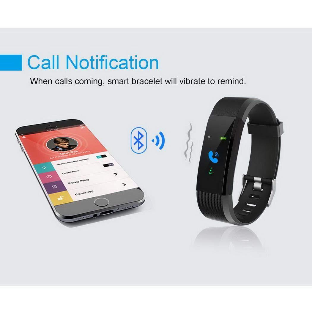 pioleUK Perseguidor Multifuncional Smart Fitness Wristband Monitor de frecuencia card/íaca Fitness Track Pulseras con Holograma
