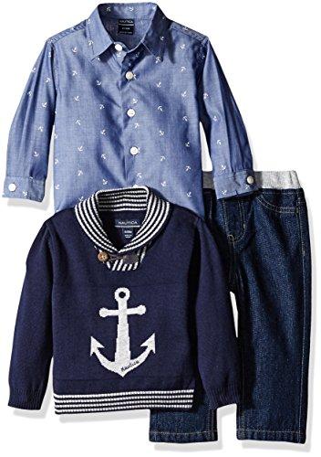 Nautica Three Piece Anchor Sweater