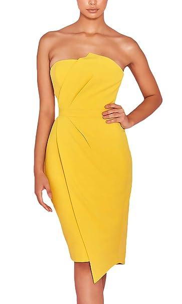 Mujer Vestido Tirantes Elegantes Verano Moda Delgado De Tubo Paquete De Cadera Vestidos Ropa Colores Sólidos