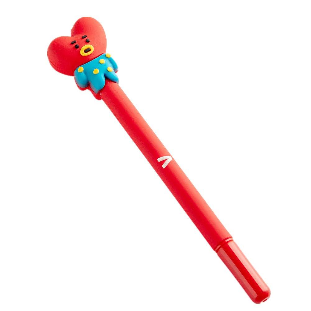 8PCS Sch/önes Geschenk f/ür BTS ARMY Kunandroc KPOP BTS KOYA RJ SHOOKY MANG CHIMMY TATA COOKY Schwarz Tinte Station/ären Stift 0,5 mm Gelschreiber Kugelschreiber