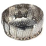 1 pc Stainless Folding Mesh Food Vegetable Egg Dish Basket Cooker Steamer Strainer Basket Cooker Bowl Expandable Kitchen Tool