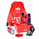 Outdoor Exploration Kit for Young Kids | Explorer Gear Play Set for Kids - Binoculars, Magnifying Glass, Whistle, Hand-Crank Flashlight, Lensatic Compass, Backpack. Great Educational Gift Set