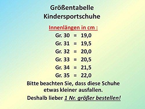 gibra® Niños Zapatillas Zapatillas, color verde neón, talla 30–