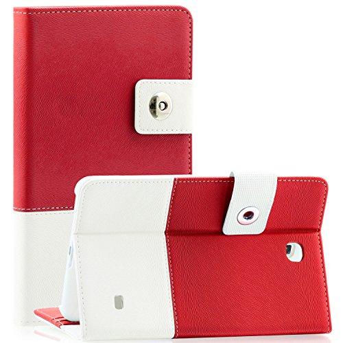 Tab 4 7 Case - SAWE Samsung Galaxy Tab 4 7.0 Red Hybrid Folio Case - Slim Fit (Nook Samsung 7 Inch Cover)