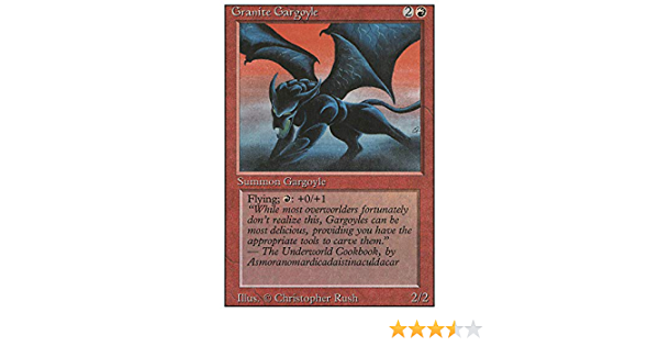 Magic the Gathering ~ 1x Granite Gargoyle ~ Revised ~ MP