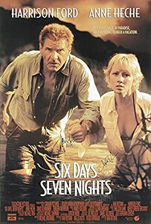 Six Days Seven Nights Movie Cast Poster Signed Co Signed Byon Ford