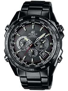 CASIO Edifice Funk EQW-M600DC-1AER - Reloj de caballero de cuarzo, correa de acero inoxidable color negro
