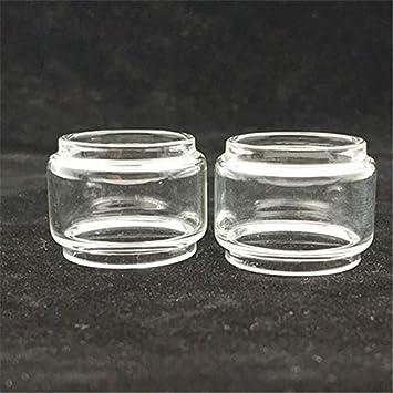 Qingtian-ceg 2pcs Burbuja de Cristal en Forma for el Tubo SMOK Tfv8 X-Baby Edición EU TPD/Ajuste for la edición estándar de Pyrex Grasa Cristal de la pecera