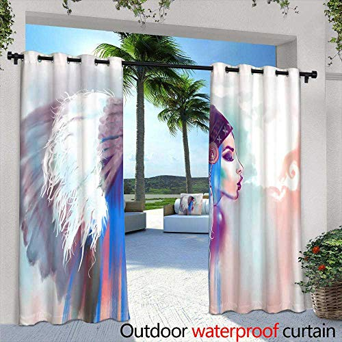 (Lightly Outdoor Balcony Privacy Curtain,Wine Barrels Stacked in a Cellar Also Available in Vertical,W72 x L108 Outdoor Privacy Porch Curtains)