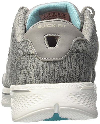 Lace Go Performance Women's Walk Walking up Shoe 4 Skechers Gray Blue wEOqXnE