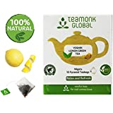 Nilgiri Yoshin Lemon Zest Green Tea for Weight Loss | 100% Natural Whole Leaf Green Pyramid Teabags with Natural Lemon Zest | Relaxing & Refreshing Fruit Tea | No Additives - 10 Teabags