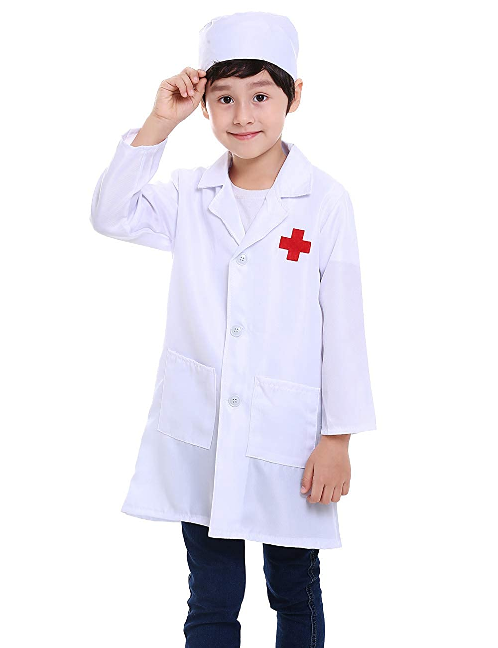 Amazon.com: TopTie niños blanco Lab abrigos niño disfraz ...