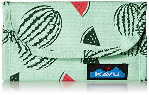 (KAVU Big Spender Trifold Wallet Womens Clutch Travel Organizer - Watermelon )