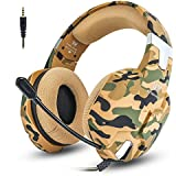 Jeecoo G1500 Gaming Headset for PS4/ PC/Xbox One/Nintendo Switch Gaming Headphones with Mic Volume Control, Soft Memory Earmuff, Surround Sound, Noise Isolating