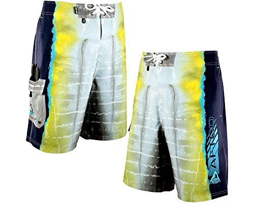 AFTCO Yellowfin Boardshorts - Yellow - Size 44 by AFTCO