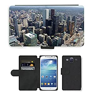 Hot Style Cell Phone Card Slot PU Leather Wallet Case // M00169427 Toronto Canada Skyline Architecture // Samsung Galaxy S3 S III SIII i9300