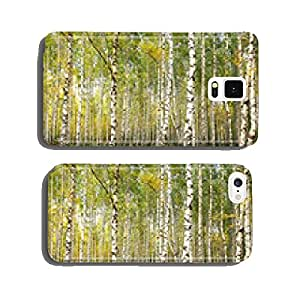 Evening autumn birch forest in sunlight cell phone cover case iPhone6 Plus