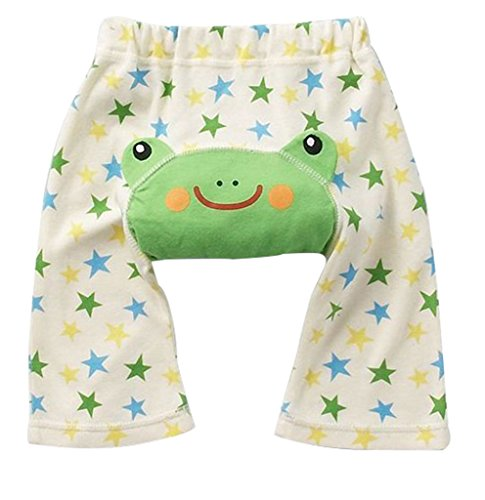 Green Frog Little Star Baby PP Pants Boy Girl Infant Tights Animal Trousers Length 12-18Month
