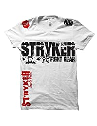Stryker Fight Gear Skull Star MMA Ufc T-shirt with One (1) Free Tapout Sticker (2XL, White)