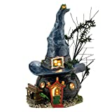 #4: Department 56 Snow Village Halloween Toads and Frogs Witchcraft Haunt Lit House, 5.91 inch