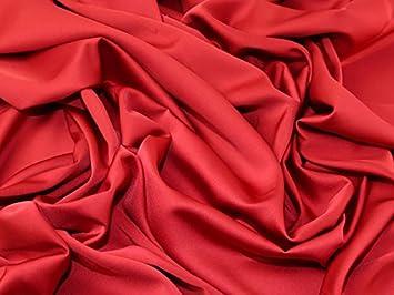 Royal Micro Dull Satin Crepe Kleid Stoff, Meterware, Rot  Amazon.de ... f4a73c84d5