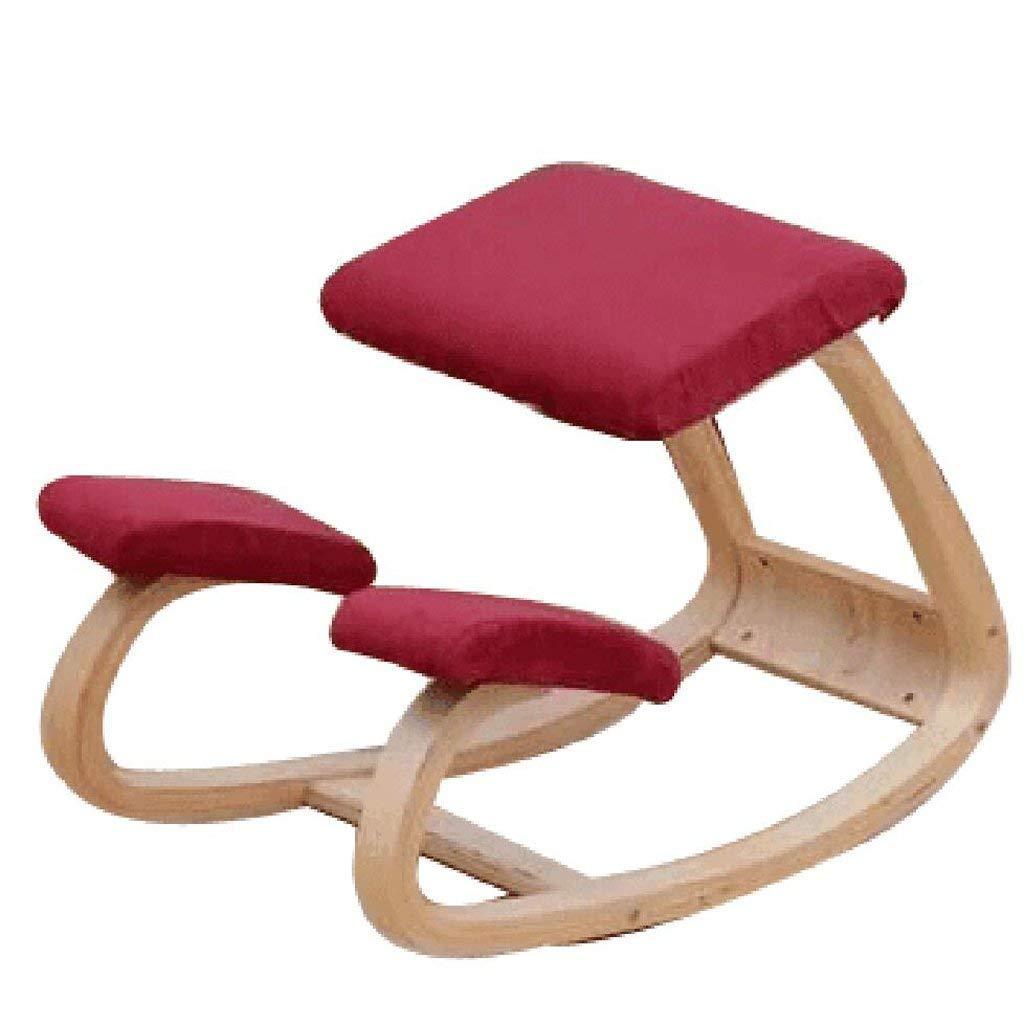 Yoga Stühle Student Zervikale Orthopädische Stühle Kinder Fitness Orthopädische Stühle, Erwachsene Yoga-Übungen Anti-Campingstühle Position Korrekturstühle Form (Farbe: Rot)