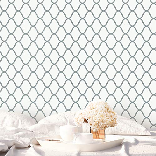 16.4'x1.47' Thick Trellis Peel and Stick Wallpaper NOT See Through Wallpaper Upgrade Durable Wall Paper Easy to Match Removable Wallpaper Sticky Self Adhesive Wallpaper Vinyl Stick on Wallpaper Roll (Roll Removable Wallpaper)