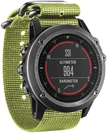 NewKelly Luxury Nylon Strap 5 Ring Watch Replacement Band for Garmin Fenix 3