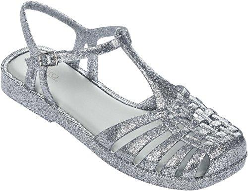 Melissa Womens Aranha quadrada Sandal Silver Glass Glitter cheap sale recommend 8SxCU14GH