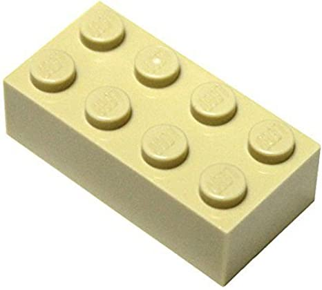 LEGO 2X4 BRICKS 3001 PACK OF 25 YELLOW PRE-OWNED