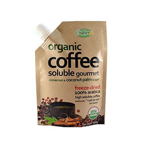 Enature Café Orgánico Soluble Liofilizado de Olla, 100 g