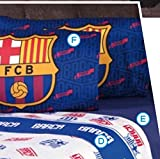 BARCELONA FOOTBALL CLUB ORIGINAL LICENSED SHEET SET 3 PCS TWIN SIZE