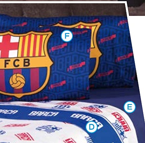 BARCELONA FOOTBALL CLUB ORIGINAL LICENSED SHEET SET 3 PCS TWIN SIZE by JORGE'S HOME FASHION