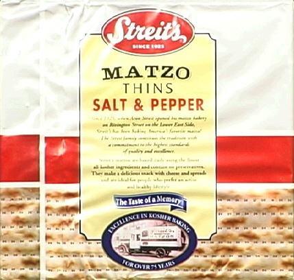 Streits Matzo Salt & Pepper Thins
