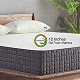 What Size Is a California King Size Mattress Queen Mattress,Sweetnight 12 inch Gel Memory Foam Mattress in a Box, Sleeps Cooler, Supportive & Pressure Relief for a Deeper Restful Sleep with CertiPUR-US Certified Foam,Queen Size