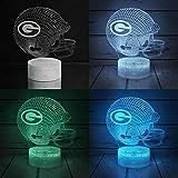 Bigfoot 3D LED Night Light Football Helmet Green